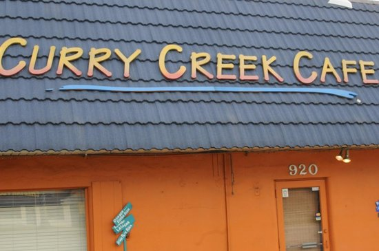 Orange exterior: Curry Creek Cafe
