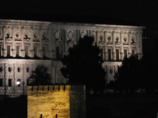 Palast von Karl V: サンニコラス広場から見た ライトアップ