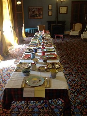 Province House National Historic Site of Canada : Students from PEI School made plates from clay representing all the people at the Charlottetown