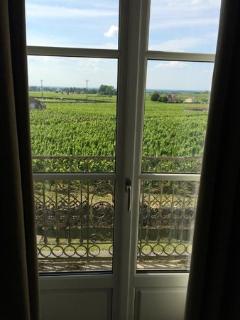 Le Pavillon Villemaurine : View from bathroom to vineyards