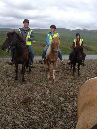 Galsi Horse Rental: Three of us and the river Blanda in the background.