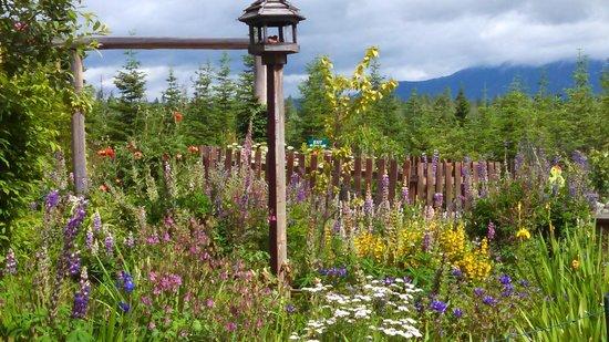 Log Spirit Bed and Breakfast : Robin's flower garden