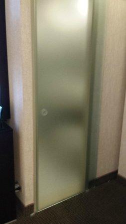 Holiday Inn Express Denver Downtown: Awkward bathroom door