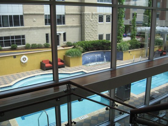 DoubleTree by Hilton Hotel Chattanooga Downtown: Pool from inside
