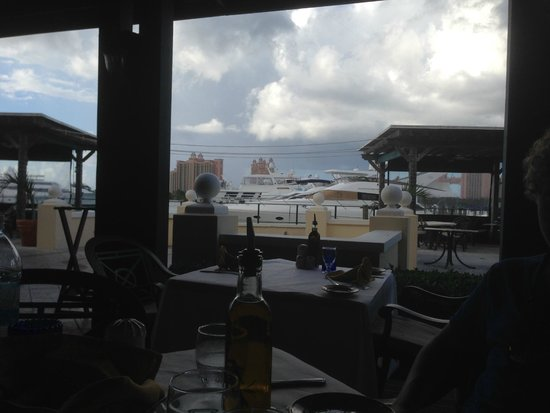 Luciano's of Chicago: View of the marina and harbor. Luciano's Nassau Bahama's