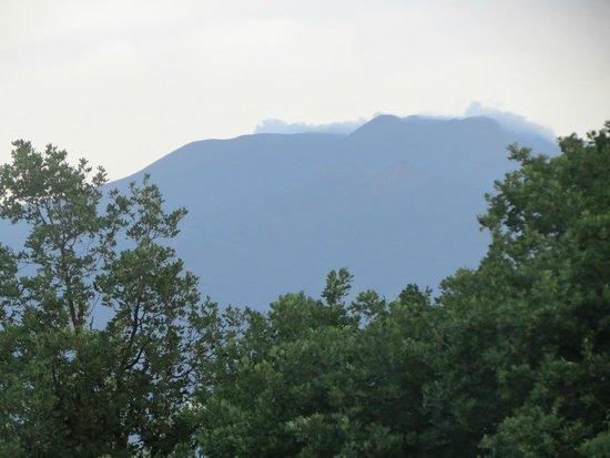 Etna Massalargia: Vista del Etna desde nuestro balcón