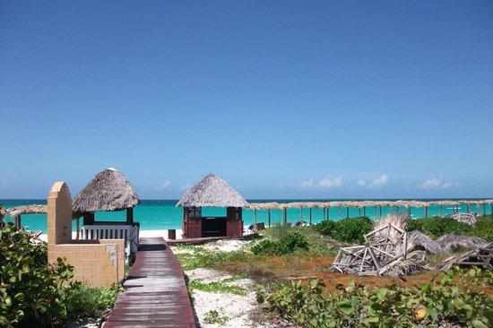Sol Cayo Santa Maria : acceso a la playa