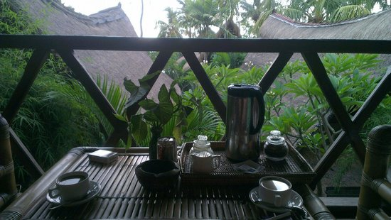 Santai Hotel Bali: Coffee and tea on your terrace every morning