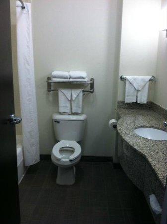 Sleep Inn & Suites: Very Spacious, Clean Bathroom