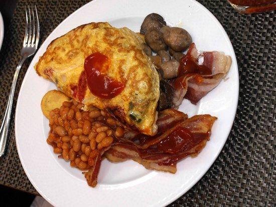 Sofitel Budapest Chain Bridge: Husband's Breakfast each morning