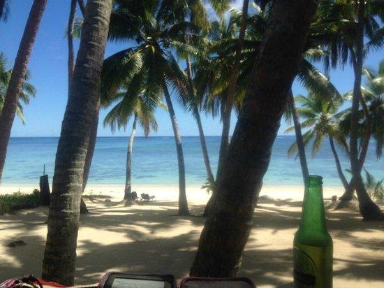 Amuri Sands, Aitutaki: view from the balcony