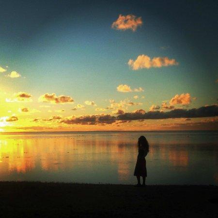Amuri Sands, Aitutaki: sunset