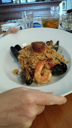 Cru Cafe : Seafood risotto.