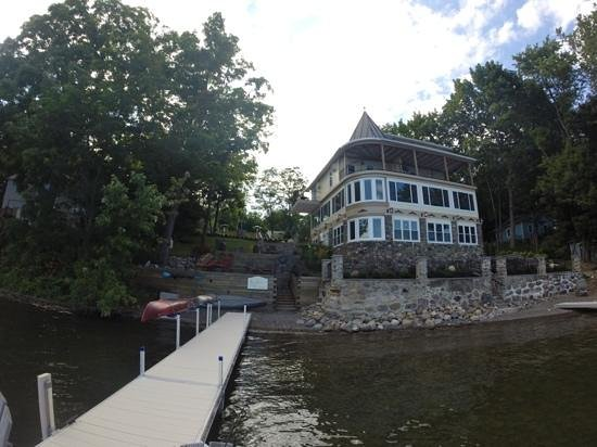 Steamboat Castle Bed & Breakfast: The view from the dock