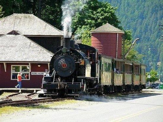 Alberni Pacific Railway: Stoomlocomotief vanaf Port Alberni