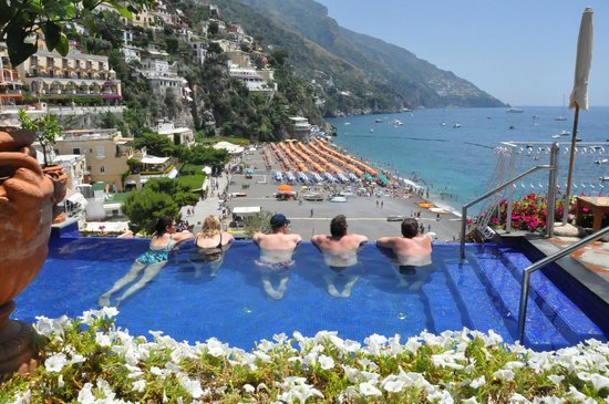 Covo Dei Saraceni: the infinity pool/spa (one of the pools - there is also a bigger one)
