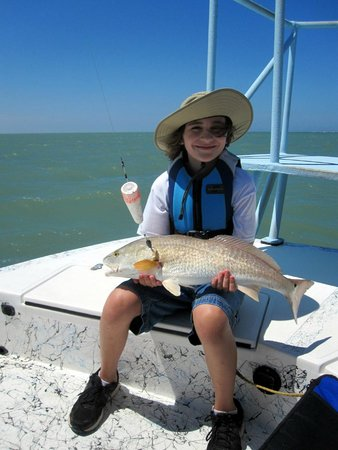 Crystal Flats Guide Service: First Redfish, great eating!