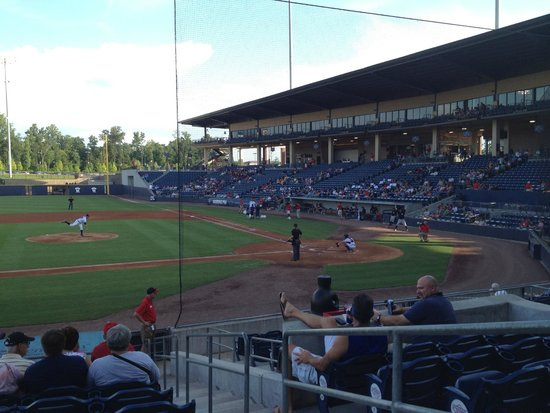 Lawrenceville, Geórgia: Lovely field and evening for Gwinnett Braves game