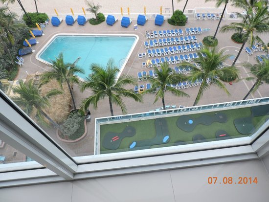 Ocean Sky Hotel & Resort: A Look Down On The Pools From The 8th Floor