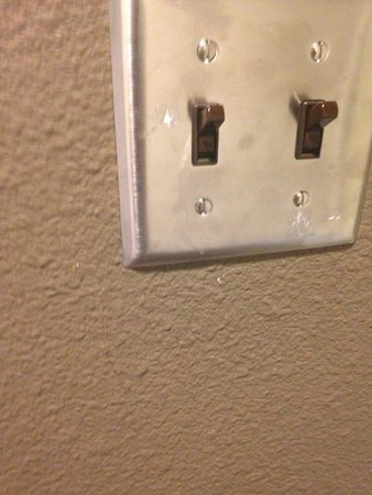 Lemon Tree Inn: toothpaste/smudges on the light switch