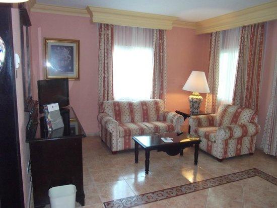 Hotel Riu Playacar : sitting area of suite