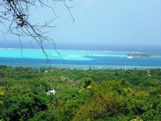 Cocoplum Beach Hotel : espectacular vista desde el mirador de San Andres