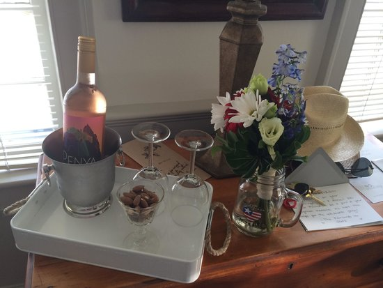 Eben House: They created a special treat for our honeymoon!