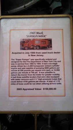 Dobson Antique Toy and Firehouse Museum: SuperPumper info