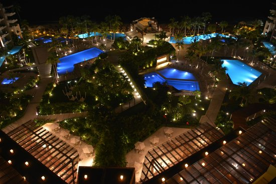 Now Amber Puerto Vallarta: Night Pool area view from room