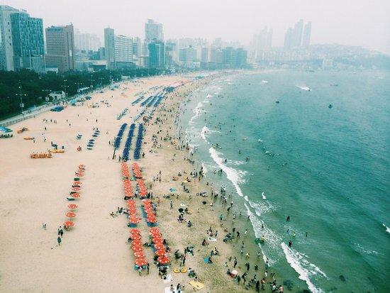 The Westin Chosun Busan: 7월 중순 주말 해운대 해수욕장 풍경~