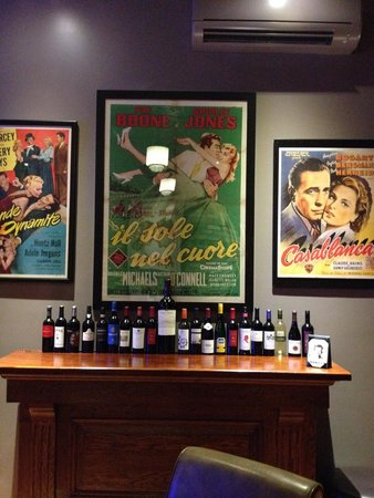 Ricky D's: Movie posters in the wine bar