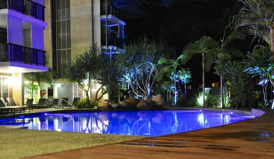 Peppers Noosa Resort and Villas : Hotel Pool at Night