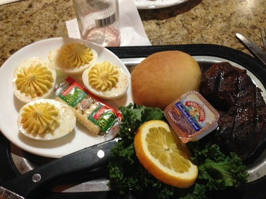 Eilers: Filet with side dish of four deviled eggs
