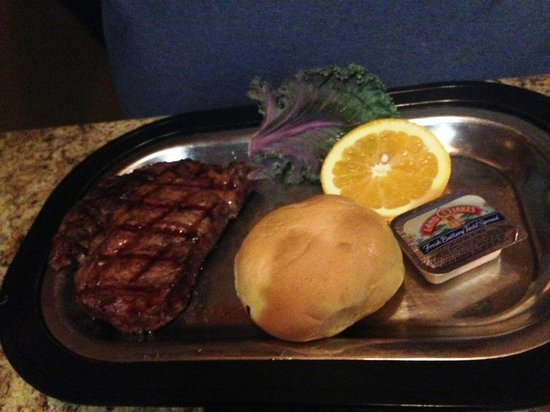 Eilers: ribeye - side dish is outside of photo