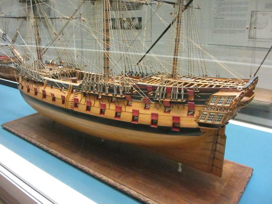 National Maritime Museum: Model of 74-gun ship, c. 1760.