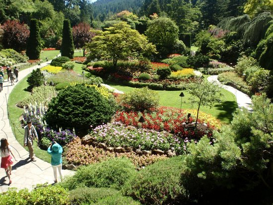 A view of Butchart Gardens