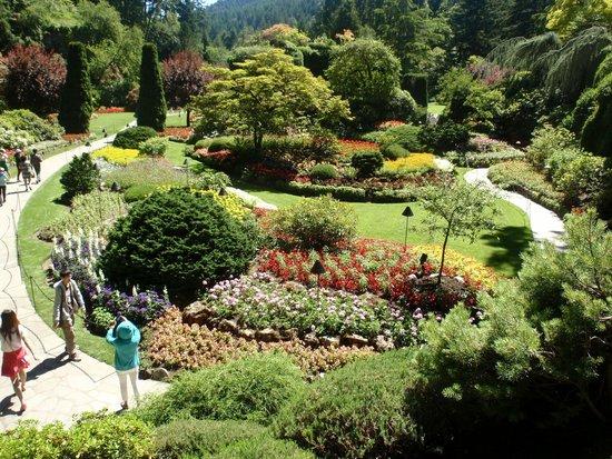 The Butchart Gardens: A view of Butchart Gardens