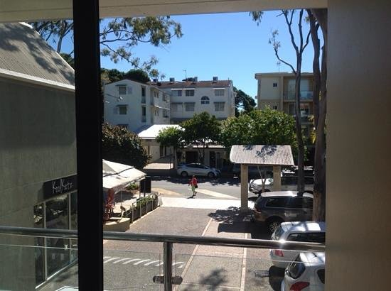 Hotel Laguna: view from our balcony onto Hastings street