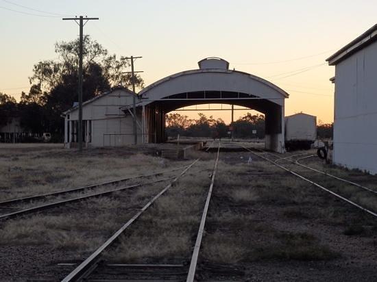 Cunnamulla, Austrália: Very unique railway station