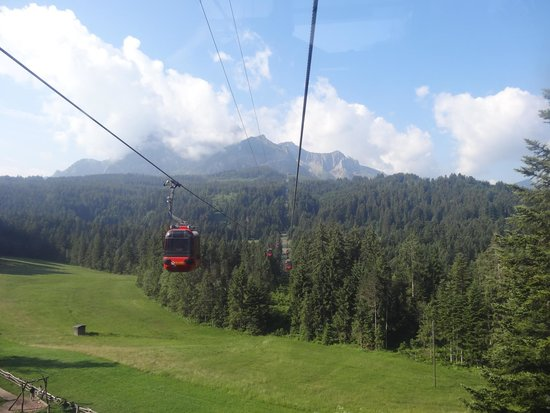 Pilatus: Ride up in the cable car