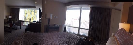 ARIA Resort & Casino: view from bed
