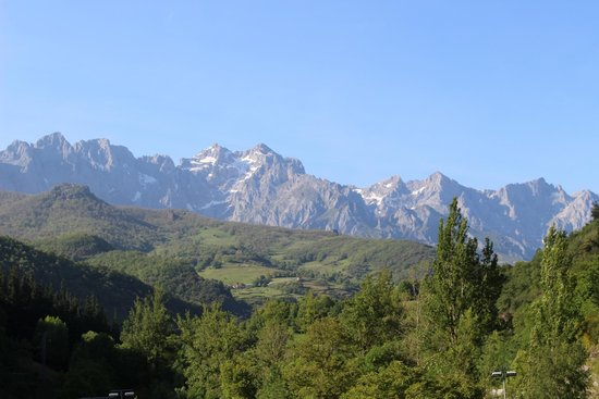 Hotel del Oso: View from our room of the Picos