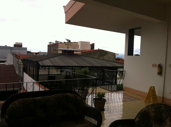 Hotel Santo Tomas: View from setting area.