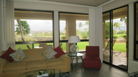 Aston Shores at Waikoloa: Living area with a view