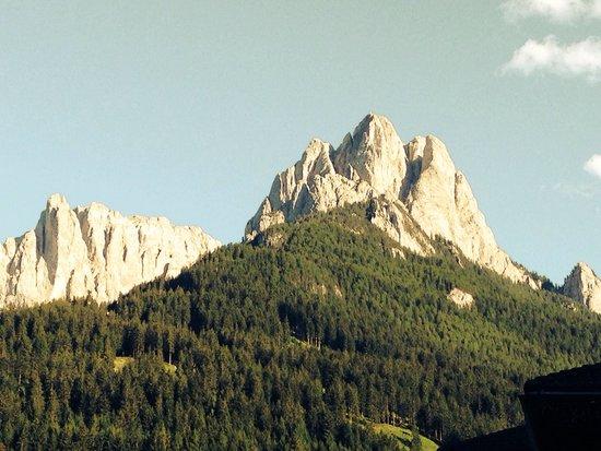 Camping Catinaccio Rosengarten: Diesen Ausblick haben wir vom camping Rosengarten