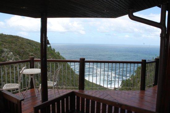 The Fernery Lodge & Chalets : Aussicht vom Deck des Haupthauses