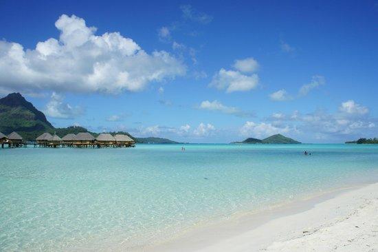 Bora Bora Pearl Beach Resort & Spa : La vista dalla spiaggia...