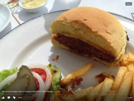 Hard Rock Cafe Pattaya: bbq hickory burger