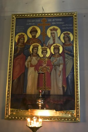 "Kasaner Kathedrale: Icon of the now ""sainted"" family of Czar Nicholas II"