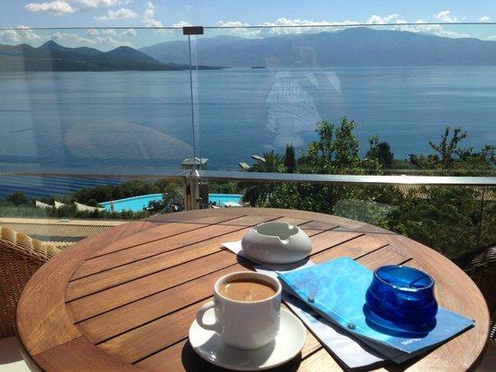Nikiana, Grecia: Vue depuis le bar